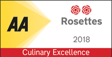 AA Culinary Excellence 2 Rosette Award 2018